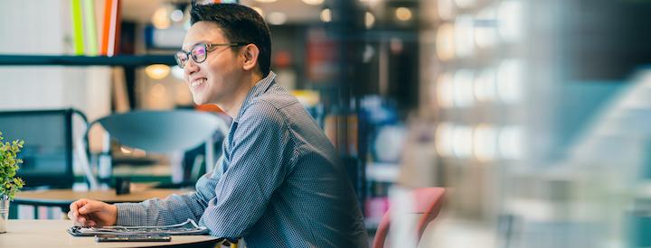 startup guy smiling