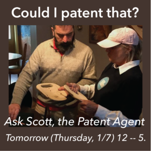 patent agent consulting with inventor
